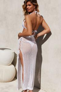 Avalon White Crochet Cover Up Skirt image