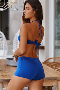 Navy Blue Bandeau Bikini Top image