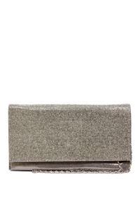 Silver Rhinestone Metallic Foil Evening Bag image