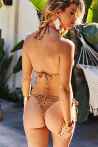 Orange Pebbles Brazilian Thong Bottom image