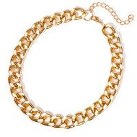 Polished Gold Curb Link Necklace image
