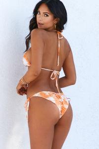 Orange Creamsicle Tie Dye Triangle Top image