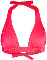 Neon Coral Adjustable Halter Top image