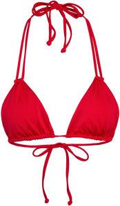 Red Double Strap Triangle Bikini Top image