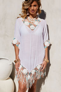 Carnation Confetti Pastel Poncho Beach Cover Up image