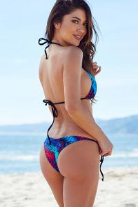 Surfside Dreamcatcher Feather Print Triangle Bikini Top image