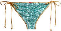 Gold & Aqua Sequin Classic Scrunch Bottom image