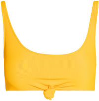 Yellow Ribbed Knot Top image