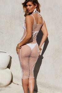 Siren Ivory Studded Mesh Dress Cover Up image