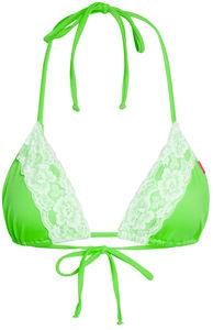 Neon Green & White Edge Lace Triangle Top image