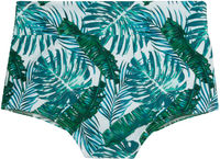 Waikiki Tropical Palm Print High Waist Scrunch Original Bottoms image