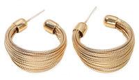 Bundled Gold Hoop Earrings image