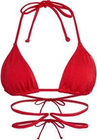 Red Strappy Triangle Bikini Top image