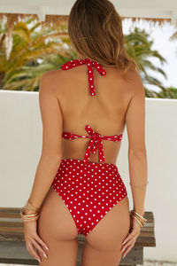 Red Polka Dot Adjustable Halter Top image