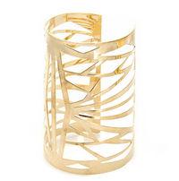 Ultramodern Polished Gold Bangle image