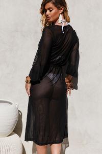 Wanderlust Black Chiffon Kimono Cover Up image