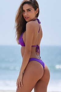 Purple Banded Brazilian Thong Bottom image