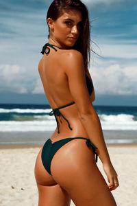 Hunter Green Micro Bikini Bottom image