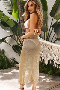 La Tertulia Gold Metallic Cover Up Skirt image