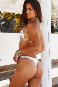 Silver Banded Brazilian Thong Bottom image