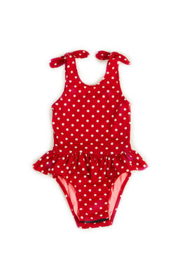 Bella Red Polka Dot Baby/Toddler One Piece Swimsuit image