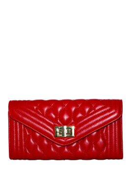 Red Quilted Vegan Leather Bag image