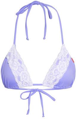 Lilac & White Edge Lace Triangle Top image