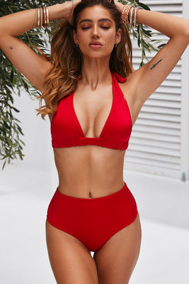 Red Adjustable Halter Top image