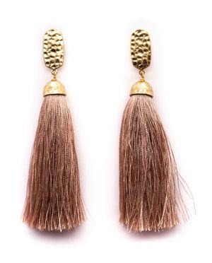 Málaga Mauve Tassel Earrings image