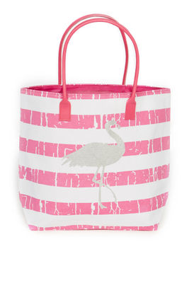 Pink Flamingo Beach Bag image
