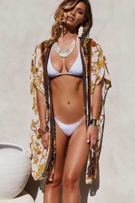 Milan Lux Chiffon Kimono Beach Cover Up image