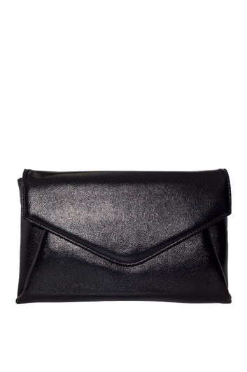 Black Faux Leather Clutch