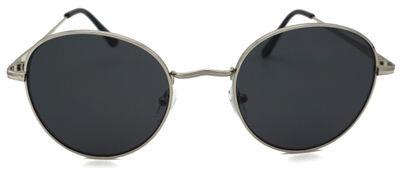 Billie Silver/Black Round Sunglasses