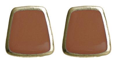 Brown Trapezoid Earrings