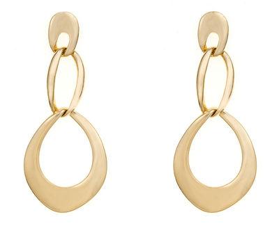 Triple Tiered Gold Earrings