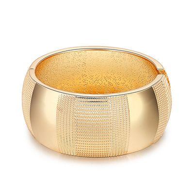 Gold Hinged Bangle Bracelet