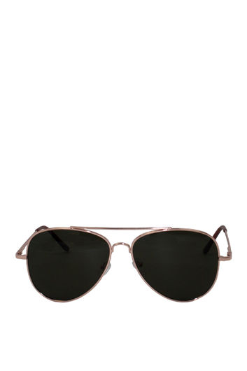 Muse Black Aviator Sunglasses