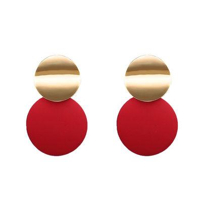 Red Dangle Drop Earrings