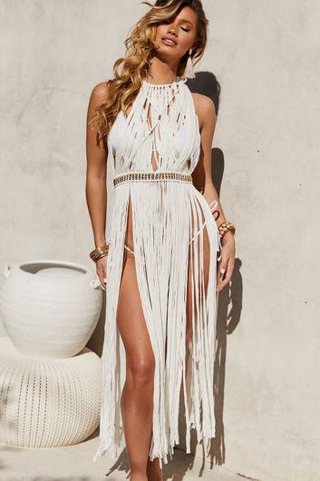 Milan White Maxi Dress Cover Up