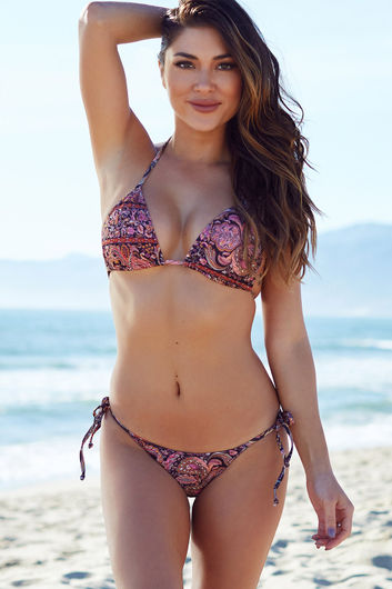 Surfside Versache Print Triangle Bikini Top