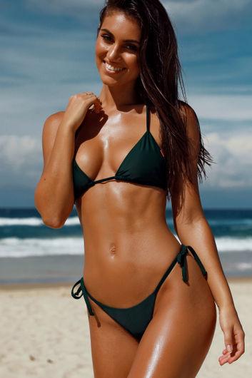 Hunter Green Micro Bikini Bottom