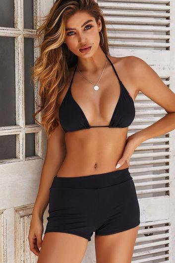Black Triangle Bikini Top