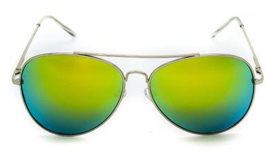 Amelia Blue Green Aviator Sunglasses