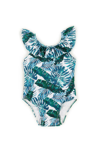 Cleo Tropical Palm Print Baby/Toddler One Piece Swimsuit