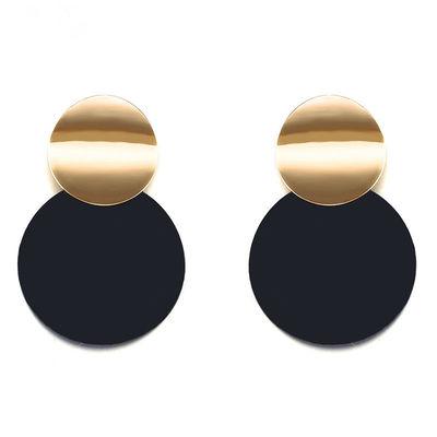 Black Dangle Drop Earrings
