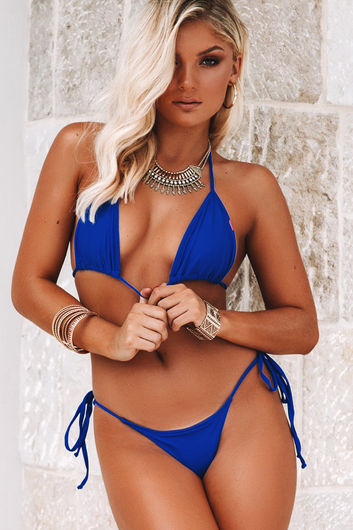 Royal Blue Triangle Top