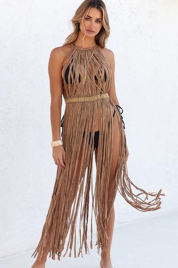 Milan Mocha Maxi Dress Cover Up