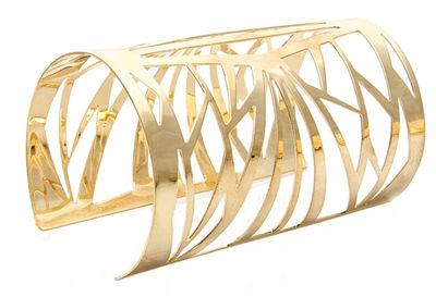 Ultramodern Polished Gold Bangle