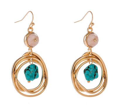 Amalfi Gold Drop Earrings