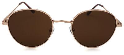 Billie Gold/Brown Round Sunglasses